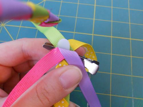 Woven Ribbon Headband Instructions - Step 14