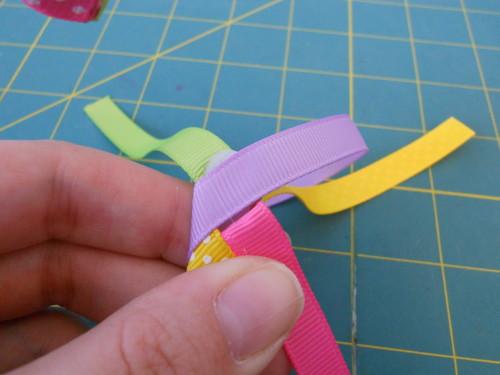 Woven Ribbon Headband Instructions - Step 15
