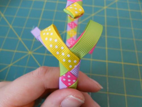 Woven Ribbon Headband Instructions - Step 16