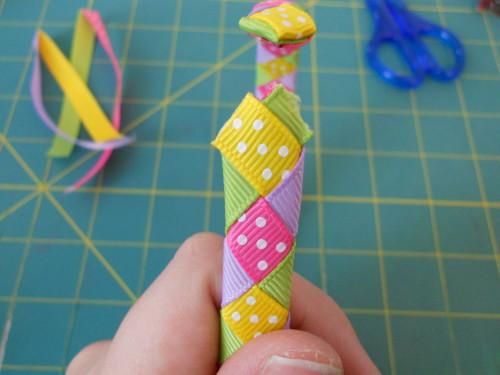 Woven Ribbon Headband Instructions - Step 17