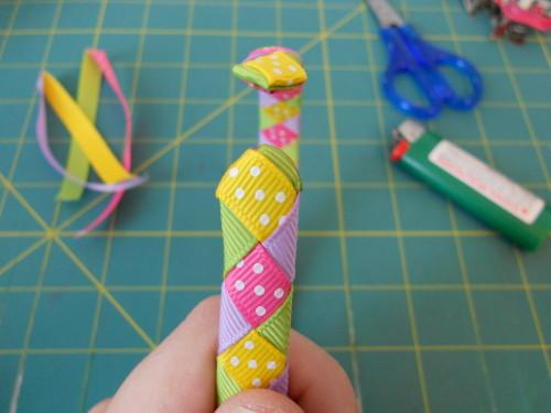 Woven Ribbon Headband Instructions - Step 18